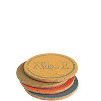 Round Assorted Coasters Set of 4