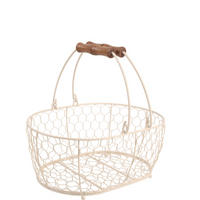 Provence Medium Oval Basket Cream