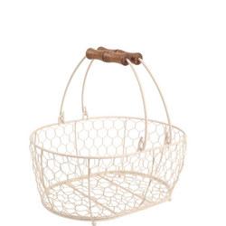 Provence Medium Oval Basket Cream
