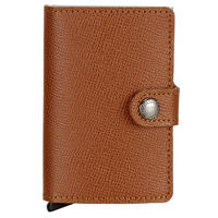 Crisple Card Protector Mini Wallet Brown
