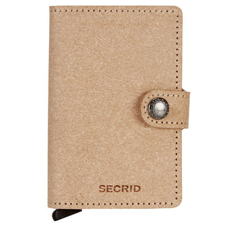 Recycled Card Protector Wallet Light Brown