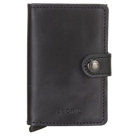 Vintage Card Protector Mini Wallet Black