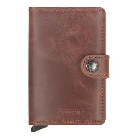 Vintage Card Protector Mini Wallet Brown