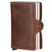 Twin Card Protector Wallet Brown