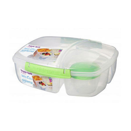 Sistema 2L Triple Split with Yogurt Pot To Go