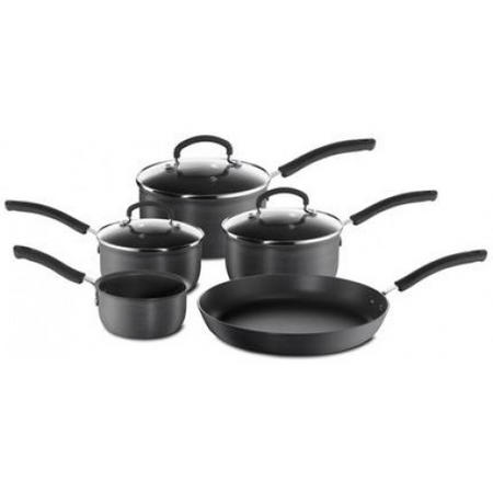 Inspire Hard Anodised 5 Piece Saucepan Set