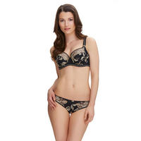 Sofia Full Cup Embroidered Bra Black