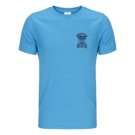 College Crested T-Shirt Blue