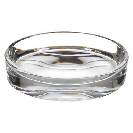 Croft Collection Glass Soap Dish Clear