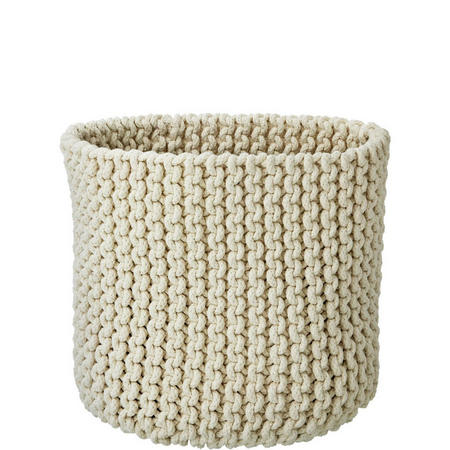 Croft Collection Knitted Basket Cream