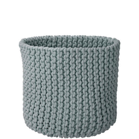 Croft Collection Knitted BasketGrey