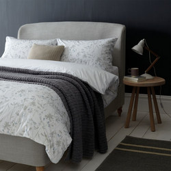 Croft Freya Duvet Cover Pale Slate