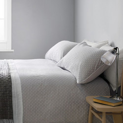Croft Collection Bethany Duvet Cover Grey