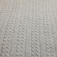 Croft Collection Cashmere Blend Cable Knit ThrowGrey