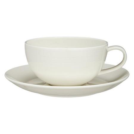 Croft Collection Luna Teacup & Saucer Set Of 2