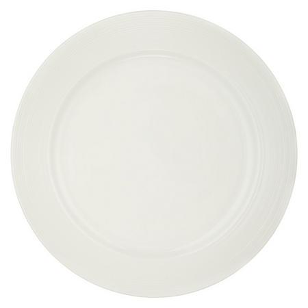 Croft Collection Luna Rim 27.5 cm Plate White