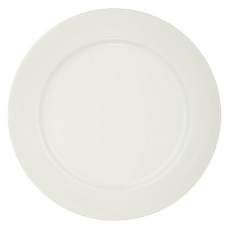 Croft Collection Luna Rim 21.5 cm Plate White