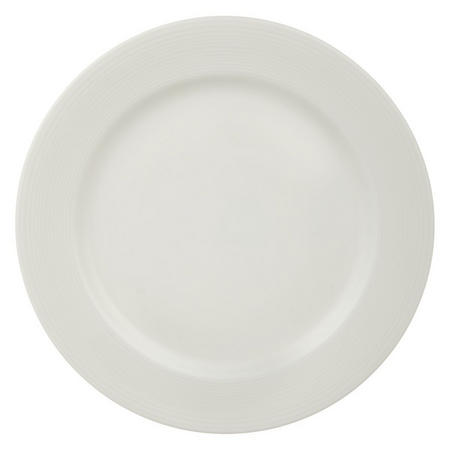 Croft Collection Luna Rim 18 cm Plate White