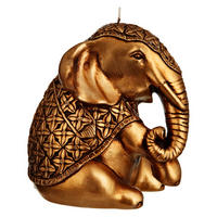 Elephant Candle Gold