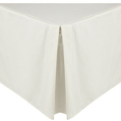 Perfectly Smooth 200 Thread Count Egyptian Cotton Centre Pleat Valance Cream