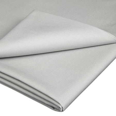 Perfectly Smooth 200 Thread Count Egyptian Cotton Flat Sheet Pale Grey