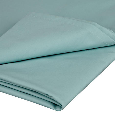 Perfectly Smooth 200 Thread Count Egyptian Cotton Flat Sheet Duck Egg
