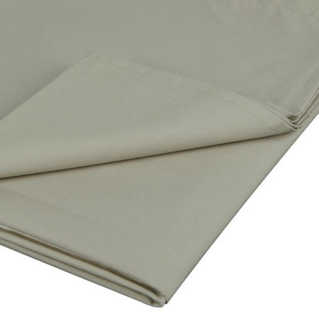 Perfectly Smooth 200 Thread Count Egyptian Cotton Flat Sheet Beige