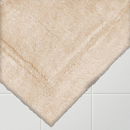 Egyptian Cotton Deep Pile Bath Mat Stone