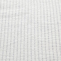 Stitch Stripe Bedspread White