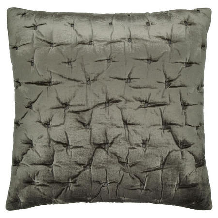 Velvet Stitch Cushion Cover Steel