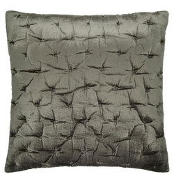 Velvet Stitch Cushion Cover Steel 65 x 65cm