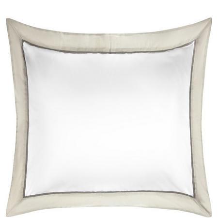 Padova Border Egyptian Cotton 400 Thread Count Square Pillowcase Grey