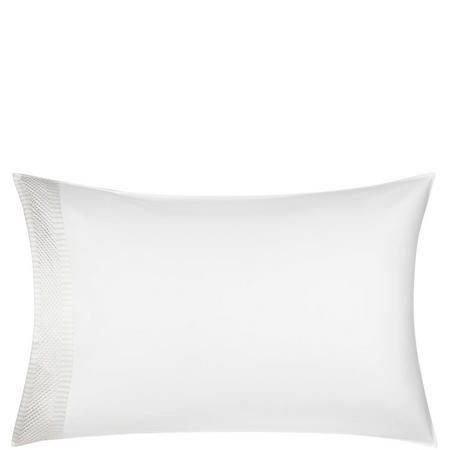 Treviso Standard Pillowcase White/Grey