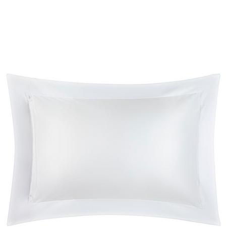 Garda Lattice Stitch Egyptian Cotton 400 Thread Count Oxford Pillowcase White