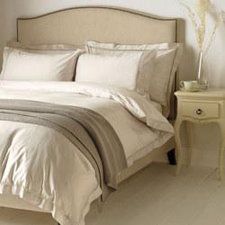 Garda Lattice Stitch Egyptian Cotton 400 Thread Count Bedding Pale Grey
