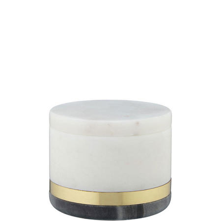 Design Project No.080 Marble and Brass Decorative Jar