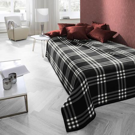 Highland Check Blanket Charcoal