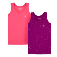 Two Pack Camisole Tops Pink