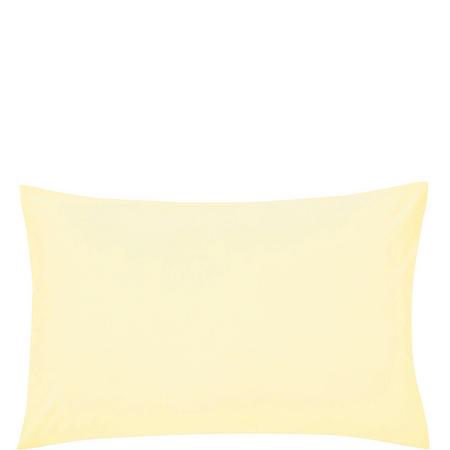 Percale Standard Pillowcase Lemon