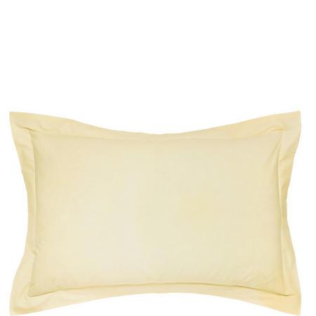 Percale Oxford Pillowcase Lemon