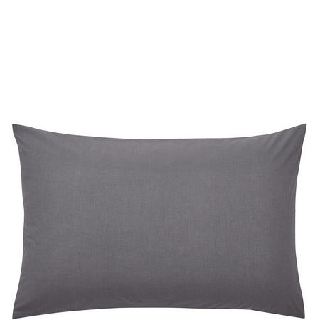 Percale Standard Pillowcase Charcoal