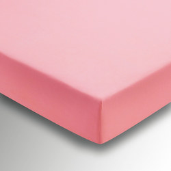 Percale Fitted Sheet Dark Pink