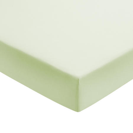 Percale Fitted Sheet Light Green