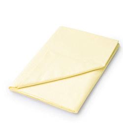 Percale Flat Sheet Lemon