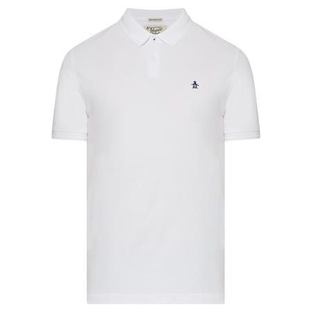 Embroidered Logo Polo Shirt Navy