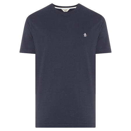 Embroidered Logo T-Shirt Navy