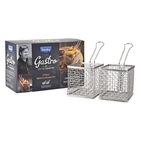 Blue James Martin Gastro 2 Piece Mini Fry Basket Kit