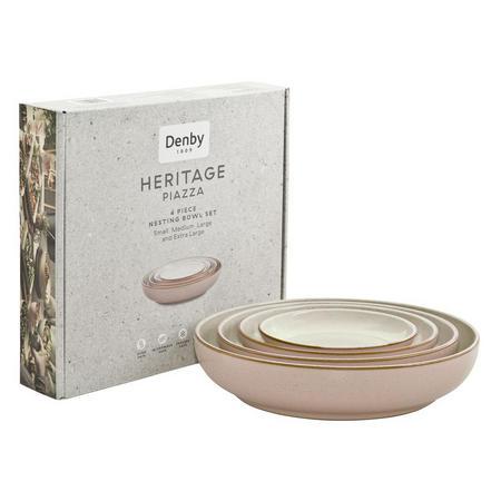 Blue Heritage Piazza Nesting Bowl 4 Piece Set