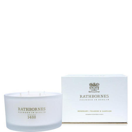 Rosemary Fougere & Ambergris Scented Luxury Candle