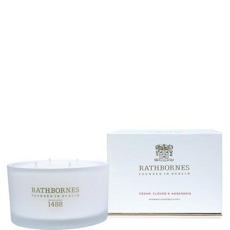 Cedar Clove & Ambergris Scented Luxury Candle